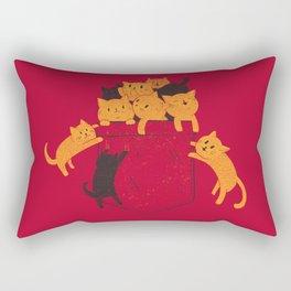 Pocket Cats Rectangular Pillow