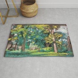 12,000pixel-500dpi - Trees - Arthur Bowen Davies Rug