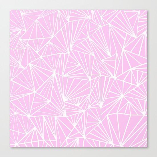 Ab Fan Pink Canvas Print