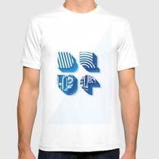 Blue Mens Fitted Tee White MEDIUM