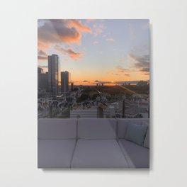 Sunset Sofa View Metal Print