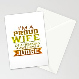 I'M A PROUD JUDGE'S WIFE Stationery Cards