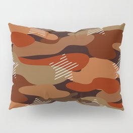 Camo-licious Collection: Red Chili Pepper Camouflage With Stars Pillow Sham