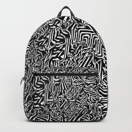 Psychedelic Black and White Enchantment Backpack