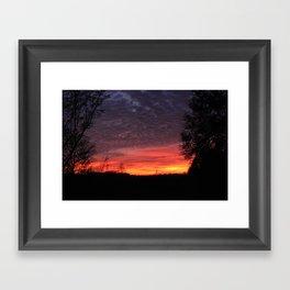 talkin shit about a pretty sunset Framed Art Print