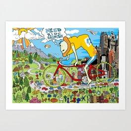 Need Ride Bicycle Art Print