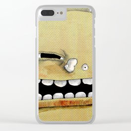 Green Monster Clear iPhone Case