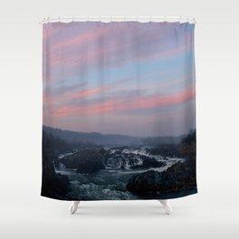 great falls sunset Shower Curtain