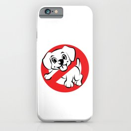Dog Busters Funny Ghost Novelty Gift Design iPhone Case