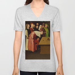 """Hieronymus Bosch """"The Conjurer - The Magician"""" Unisex V-Neck"""