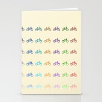 bicycles Stationery Cards featuring Bicycles by George Hatzis