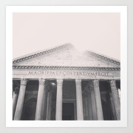 The Pantheon, fine art print, black & white photo, Rome photography, Italy lover, Roman history Art Print
