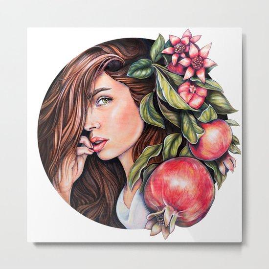 Pomegranate flowers Metal Print