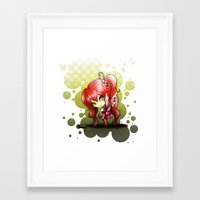 valentina Framed Art Prints featuring Valentina by ASerna