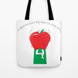 Apple Tree Pose Tote Bag