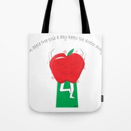 Apple Tree Pose Tote Bag