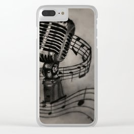 The power of song Clear iPhone Case