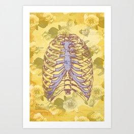Os et des fleurs Art Print