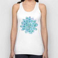 succulent Tank Tops featuring Succulent by Susan Windsor