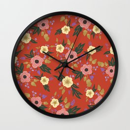Lucille Floral Print Wall Clock