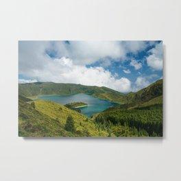 Crater lake in Azores Metal Print