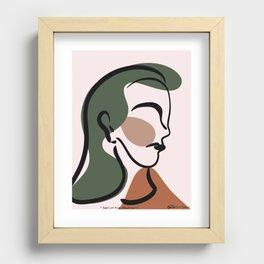 self portrait Recessed Framed Print