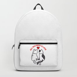 Two Valentine Cats Backpack