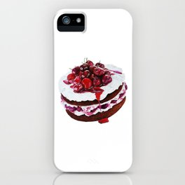Cake with fruits iPhone Case