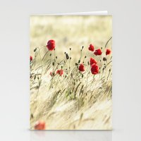poem Stationery Cards featuring A POPPY  POEM by Stephanie Koehl