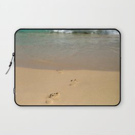 footprints in the sand Laptop Sleeve
