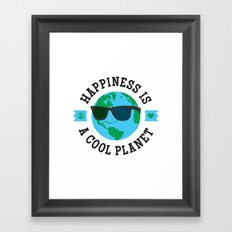 Happiness Is A Cool Planet Framed Art Print