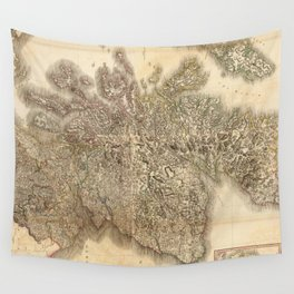 Vintage Map of Scotland (1801) Wall Tapestry
