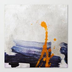 brush strokes blue orange Canvas Print