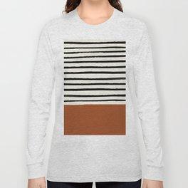 Burnt Orange x Stripes Long Sleeve T-shirt