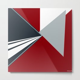 TRIANGULATION Red Metal Print