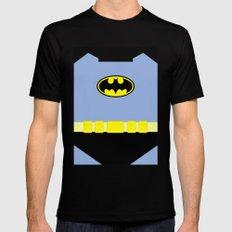 Bat Man - Superhero Black MEDIUM Mens Fitted Tee