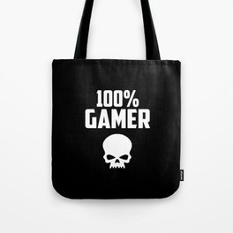 gamer logo and quote Tote Bag