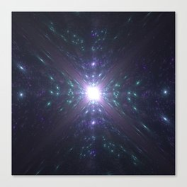 Looking at the Universe Through a Diamond Canvas Print