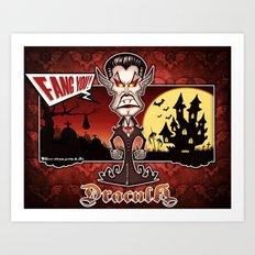 Dracula...Fangs you! (Lugosi style) Art Print
