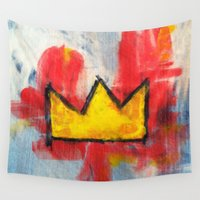 crown Wall Tapestries featuring His Crown by Matt Pecson