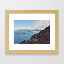 Blue Water on Lake Mead Framed Art Print