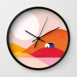 Abstraction_Mountains_Simple_House_Minimalism Wall Clock
