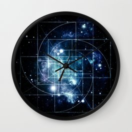Galaxy Sacred Geometry: Golden Mean Wall Clock