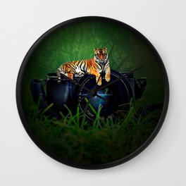 Tiger Camera by GEN Z Wall Clock
