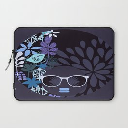 Afro Diva : Lavender Periwinkle Laptop Sleeve
