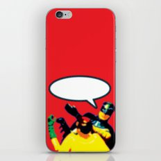 Robin and Bat Man in Action iPhone & iPod Skin