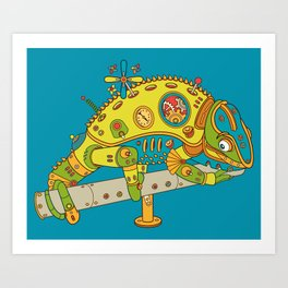 Chameleon, cool wall art for kids and adults alike Art Print