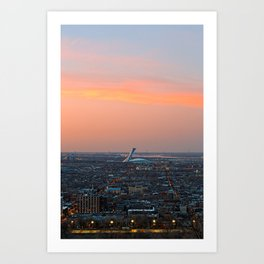 Montreal Twilight Art Print