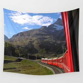 View from the Bernina Express Wall Tapestry