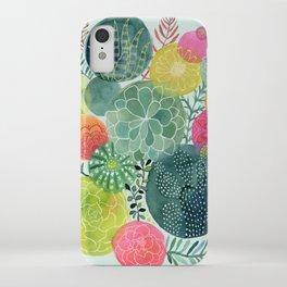 Succulent Circles iPhone Case
